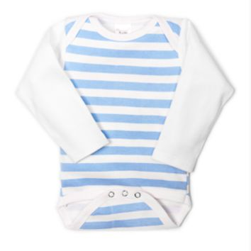 UnderBib Long Sleeve Blue Stripe Bodysuit