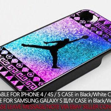 DCKL9 colorful aztec nike jordan case for iPhone 4/4s/5/5s/5c/6/6+ case,iPod Touch 5th Case,