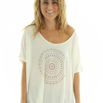 RVCA Morocco T Shirt in Natural