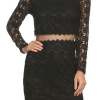 Trendy Fitted Illusion Lace Party Dress - RissyRoos.com