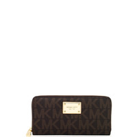 Continental Logo Wallet, Brown - MICHAEL Michael Kors