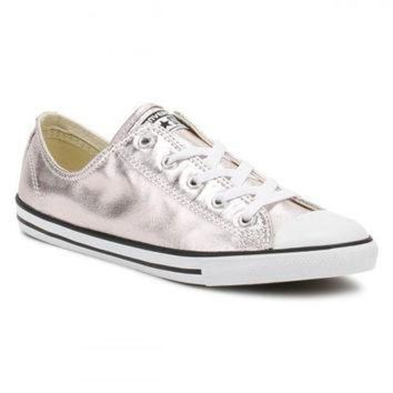 IKCKL9 Converse All Star Chuck Taylor Womens Dainty Ox Rose Quartz/Black/White Trainers