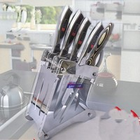 Kitchen shelving kitchen knife Accessories acrylic knife holder kitchen supplies plexiglass holder (without Knives)