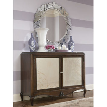 American Drew Jessica McClintock Entertainment/ Credenza w/ Mirror in Mink