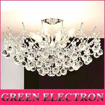 Modern LED Crystal Chandelier Light Fixture Chrome Finish Luster Crystal Lamp for Living Room Bedroom 100% Guaranteed Lighting