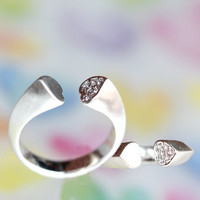 modelingArt two heart ring/