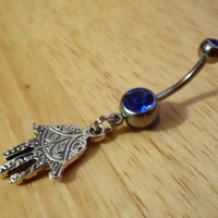 Belly Button Ring - Hamsa hand Belly button ring
