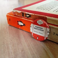 Penguin Classic 1984 George Orwell Button Pinback Badge