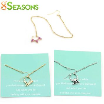 8SEASONS New Fashion Women Fake Piercing Skeleton Love Nose Rings&Studs Ear Chain Body Jewelry Summer Style 2 Colors, 1 Piece