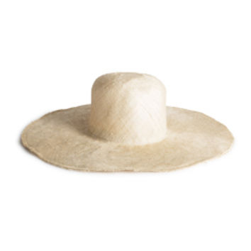 Handmade Straw Hat with Wide Brim
