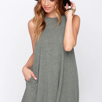 RVCA Sucker Punch Olive Green Dress