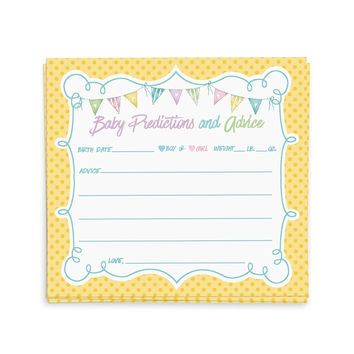 Baby Shower Advice Cards Advice for the New Mommy | Baby Shower Games Favors ...