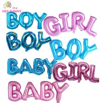 1 piece  baby girl boy birthday letters balloons Foil Balloons Baby Shower Party Decoration Helium Balloon 6 colors