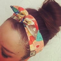 Umbrella Print Dolly Bow Headband by Eindre on Etsy