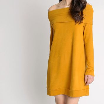 Josephine Off Shoulder Tunic Dress | Ruche