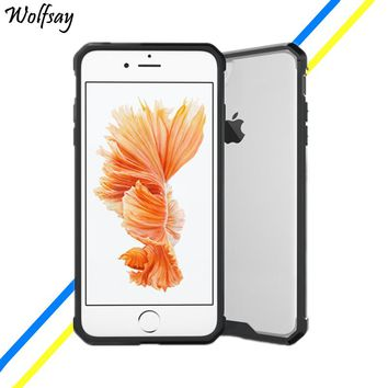 Wolfsay For Cover Apple iPhone 7 Plus Case Transparent Hard Cover For Apple iPhone 8 Plus Case For iPhone 7 Plus Phone Cover   <