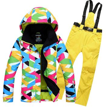 2018 Newest Ski Suits Women's Jacket+Pants,Snowboard Clothes,Snowboarding Skiing Jackets Sports Waterproof Windproof Breathable