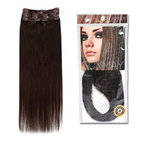 SUNMAY®16''--22'' Remy Human Hair Clip in Extensions Dark Brown (Color #4) 8 pcs Full Head Set 65g-85g (18''75g #4)