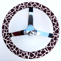Giraffe Print Steering Wheel Cover