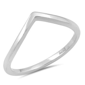 Wishbone Ring 925 Sterling Silver Wish bone Band Ring