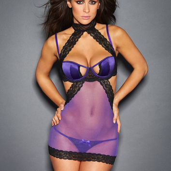 Suki Chemise With Lace Detail