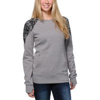 Volcom Girls Royal Grey Crew Neck Tech Fleece Sweatshirt at Zumiez : PDP
