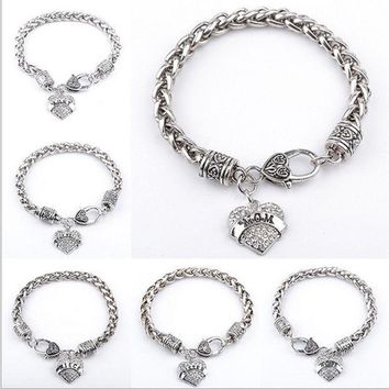 ca PEAPTM4 New Arrival Gift Stylish Great Deal Awesome Shiny Hot Sale Heart Rhinestone Pendant Gifts Bracelet [8026071751]