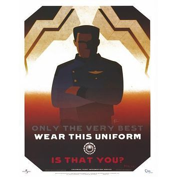 Battlestar Galactica Bsg Propaganda Recruitment poster Metal Sign Wall Art 8in x 12in