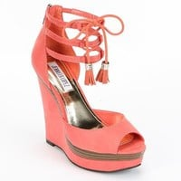 Jennifer Lopez Peep-Toe Platform Wedge Heels - Women