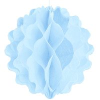 Pastel Blue - Birthday Party Honeycomb Ball Decorations