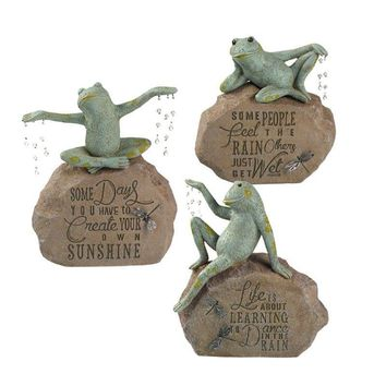 Sunshower Frog Statues, Individually Sold