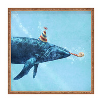 Terry Fan Party Whale Square Tray