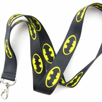 Batman Black Lanyard/Keychain/System Holder/Badge ID Holder/Neck Strap