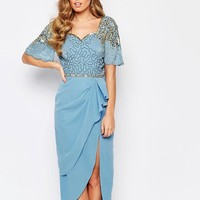 Virgos Lounge Laila Embellished Midi Dress With Thigh Split
