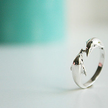 Dolphin Silver Ring Sterling Ring .925 Silver Ring Personalized Ring