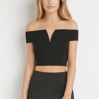 V-Cut Crop Top