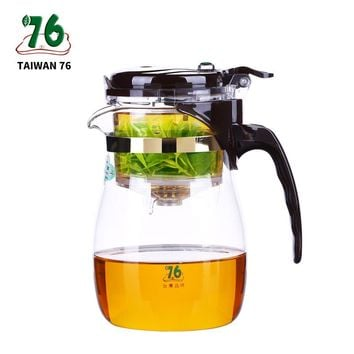 Elegant Large Capacity Glass Teapot Chinese Green Tea The Detachable Screen Liner Kungfu Tea Set Auto-open Teapot Brewing Glass