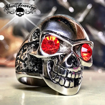 'Rosso Scimmia' Red Monkey Skull Ring (617)