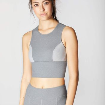 Michi Aura Crop Top - Granite Grey