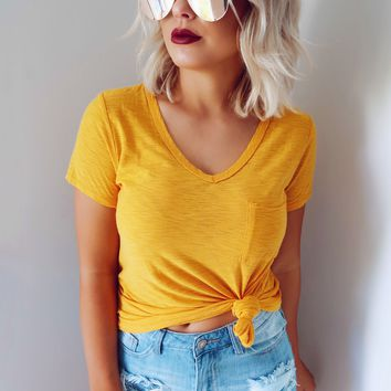 A Perfect Pair Tee: Golden
