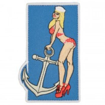 MPG Navy Pin Up Girl Patch With Hook