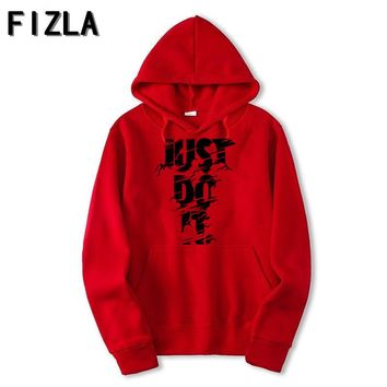 Newest Color JUST DO IT Hoodies Cotton Polyester Funny Print Hoodie Man/Women Fashion Brand clothes Casual Sweatshirt