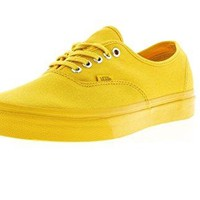 Vans Unisex Shoes Authentic Primary Mono Spectra Yellow Fashion Skate Sneakers