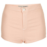MOTO Pale Pink Denim Hotpants - Shorts - Clothing - Topshop USA