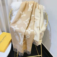 LV autumn and winter new trend women's jacquard letters knit long scarf