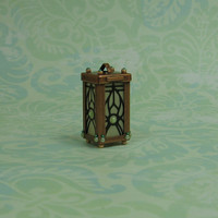 Dollhouse Miniature Copper & Green Lantern
