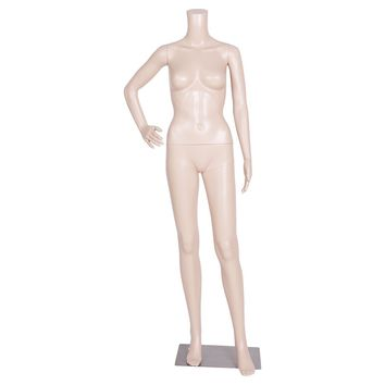 Headless Female Mannequin Plastic Realistic Display Dress Form Full Body w/ Base