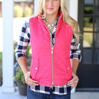 Quilted Riding Vest - Pink