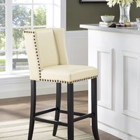 Denver Cream Bar Stool Eco Leather