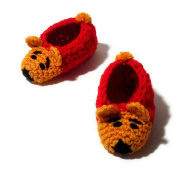 Winnie the Pooh Character Booties Crochet Baby Shoes